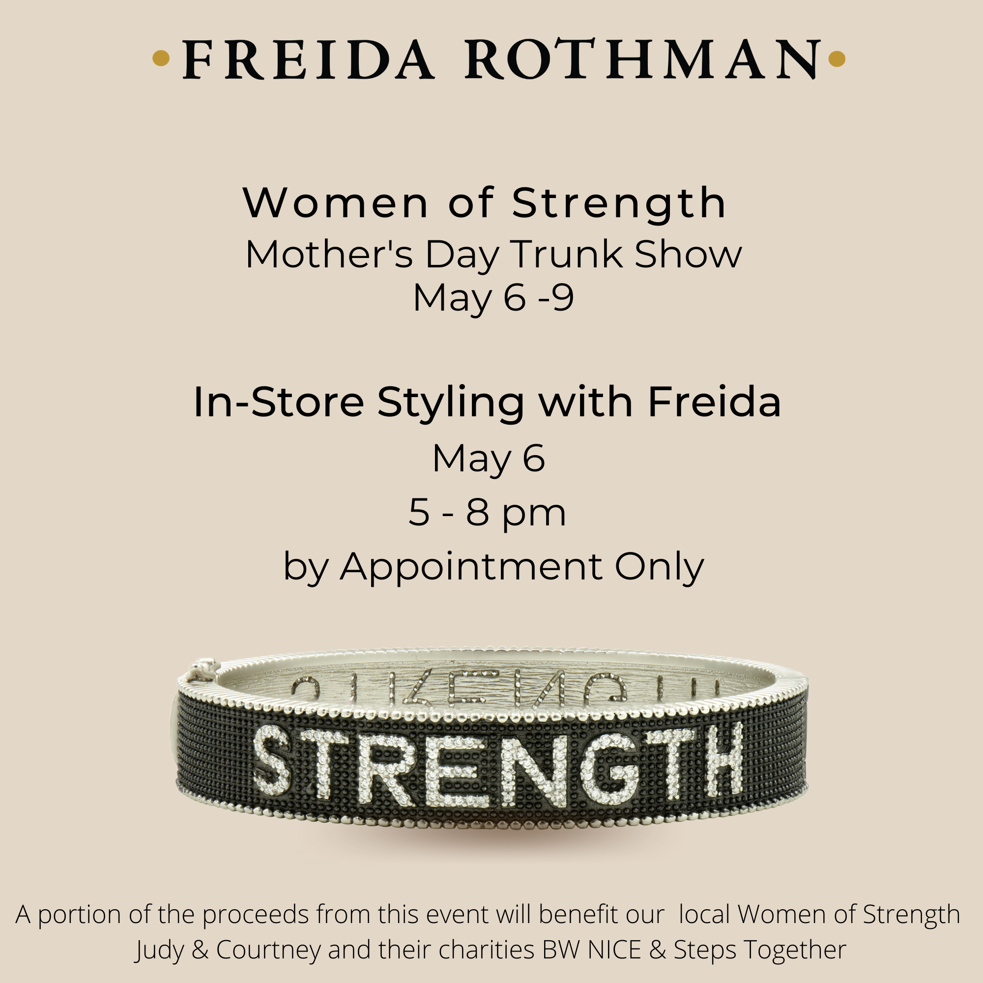 Women of Strength Mother's Day Event with Freida Rothman