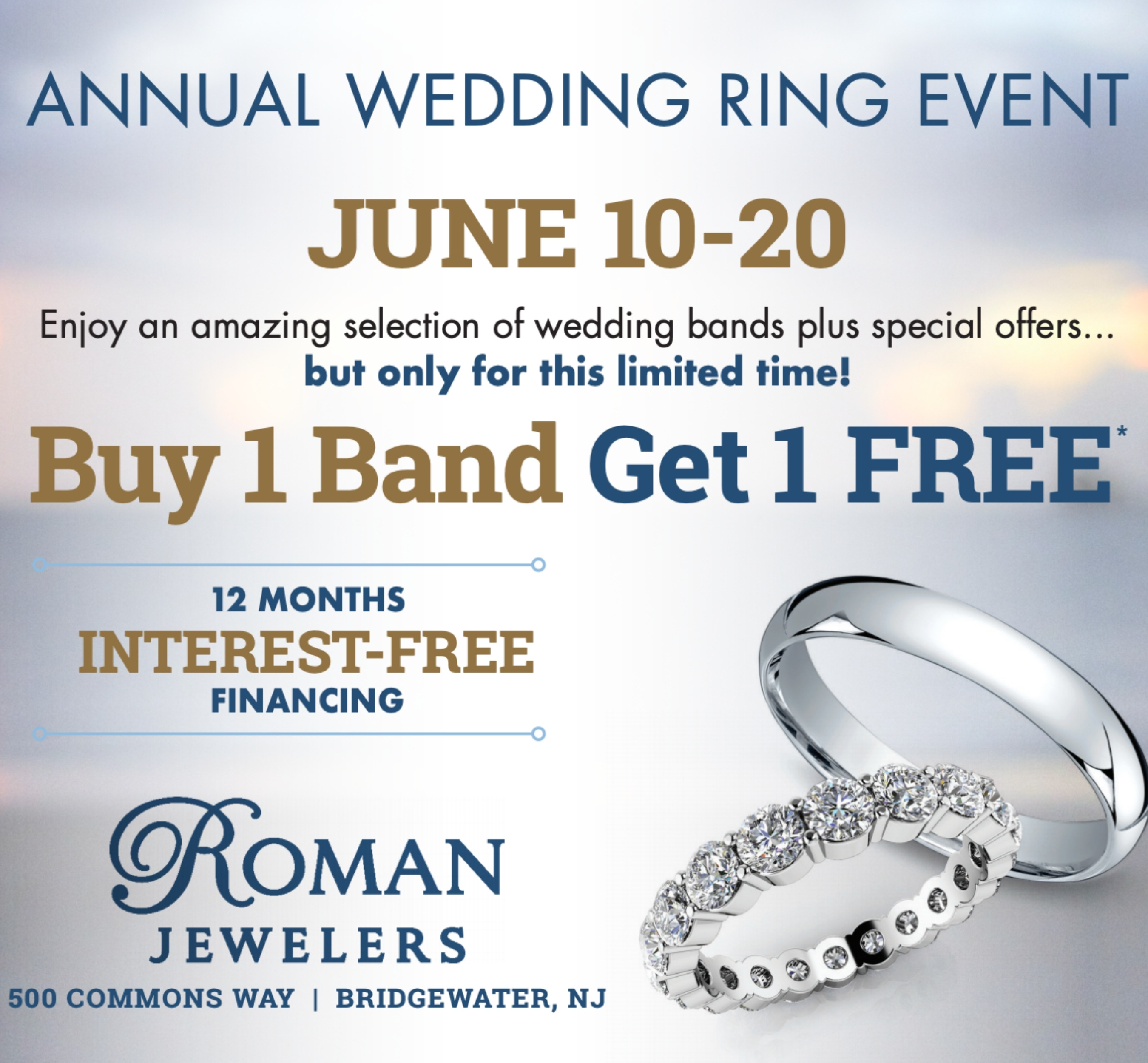 Annual BOGO Wedding Ring Event 2021