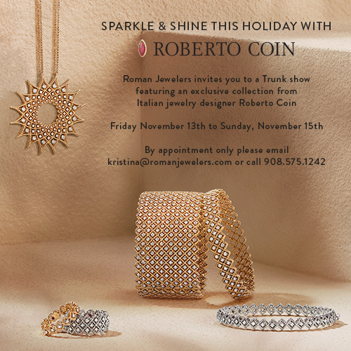Sparkle & Shine this Holiday with Italian designer, Roberto Coin