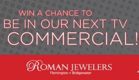 Be in a Roman Jewelers TV commercial