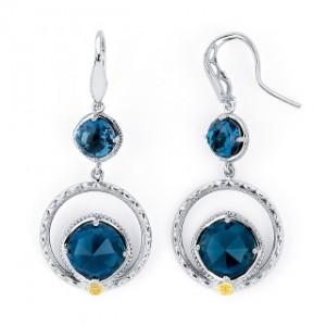 Tacori Topaz drop earrings