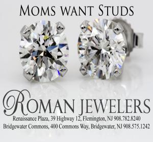 Roman Jewelers advertisements for stud earrings