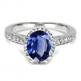 Oval sapphire Tacori engagement ring