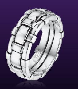 White gold Scott Kay men's bracelet