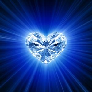 Heart diamond cartoon