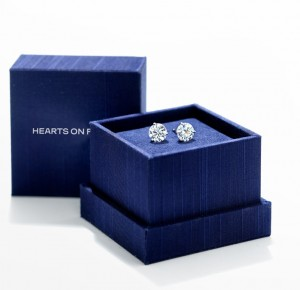 Hearts on fire diamond stud earrings