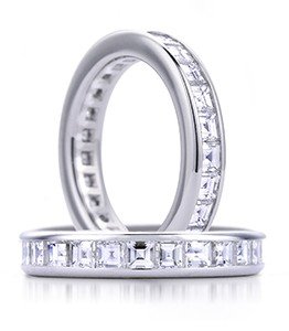Two diamond studded wedding bands