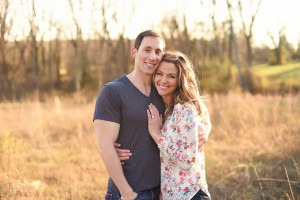 Image of Heather and RJ in the middle of a field