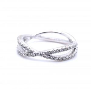 18K White Gold Infinity Ring