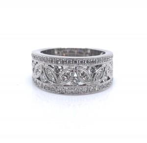 14K White Diamond Fashion Ring