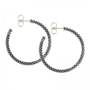S/S Sig Cav 35Mm Hoop Earring