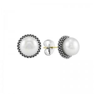 S/S Luna Pearl 8Mm Stud Earring