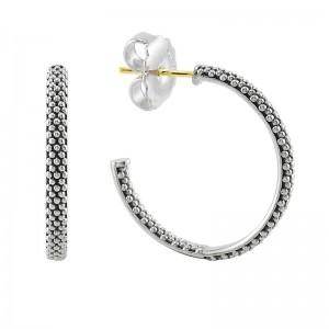 S/S Sig Cav 25Mm Hoop Earring