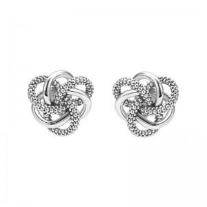 S/S Love Knot 10Mm Stud Earring