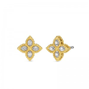 Roberto Coin Princess Flower Earrings