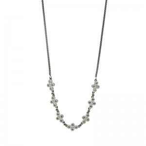 Industrial Finish 4 Points Short Chain Necklace