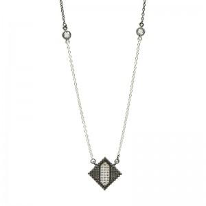 Industrial Finish Diamond Shape Pendant
