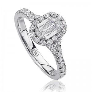 CHRISTOPHER DESIGNS  Crisscut®Cushion Diamond Engagment Ring