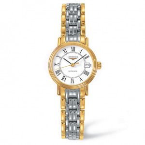 Longines Les Grandes Classiques White Dial Two-tone Ladies Watch