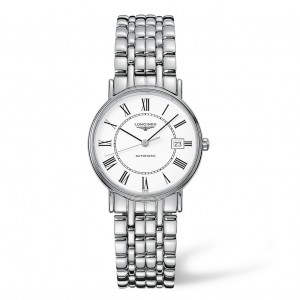 Longines Presence Automatic White Dial Stainless Steel Mens Watch