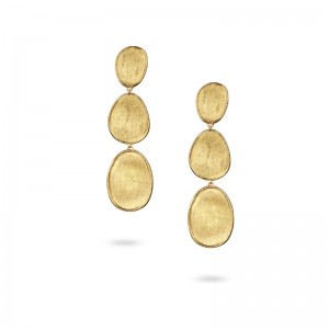 Marco Bicego Lunaria Gold Small Triple Drop Earrings