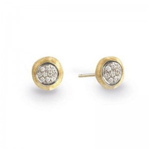 Marco Bicego Delicati Gold & Diamond Pave Stud Earrings