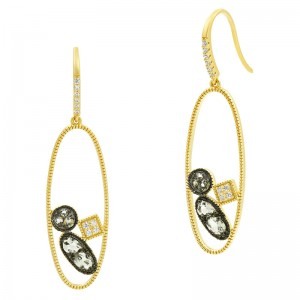 Rose D'or Open Drop Earrings
