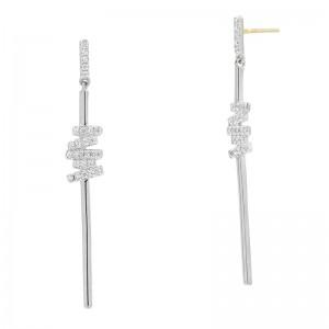 Radiance Delicate Linear Drop Earring