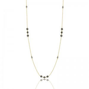 Mixed Icon Station Wrap Necklace