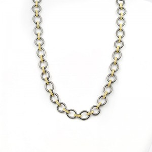 Signature Two-Tone Heavy Link Necklace