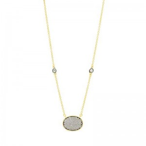 SignaturePave Oval Disc Pendant