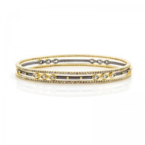 Signature Marquise Station 3-Stack Bangles