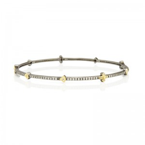 Signature Pave Clover Station Bangle