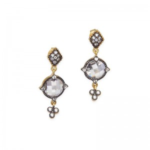 Signature Mirror Stone Drop Earrings
