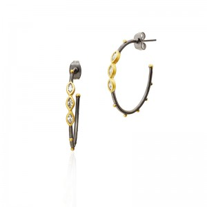 Signature Marquise Hoop Earrings