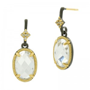 Large Sparkly Gem Drop Earring