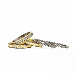 Signature Scatered Two Toned 5-Stack Ring