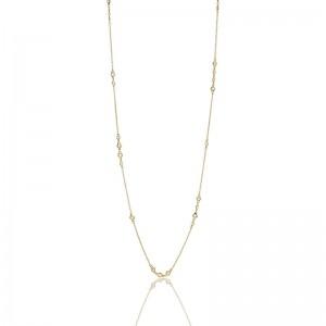 Cluster Bezel Wrap Necklace
