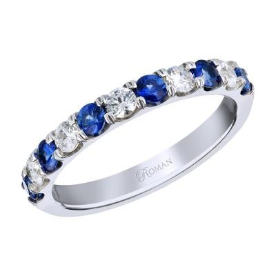 Romanza Sapphires Diamond Band