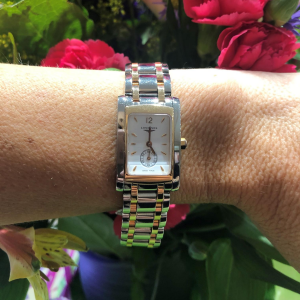 Longines Doce Via ladies Stainless Steel and Rose Gold Watch