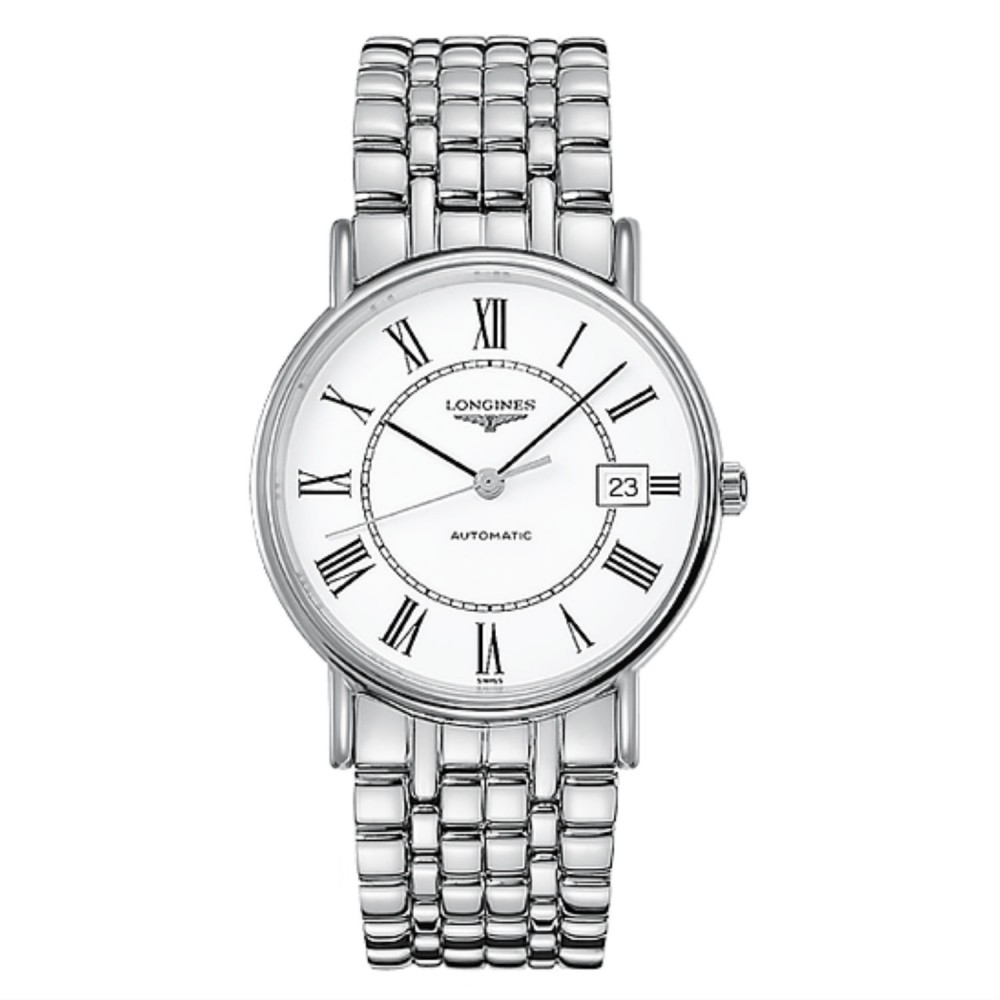 10d2acb253e Longines Presence Automatic White Dial Mens Watch - LONG00216