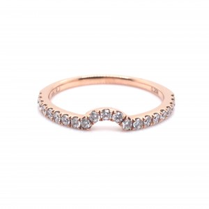 18K Rose Gold Anniversary Band