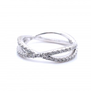 18K White Gold Infinity Ring