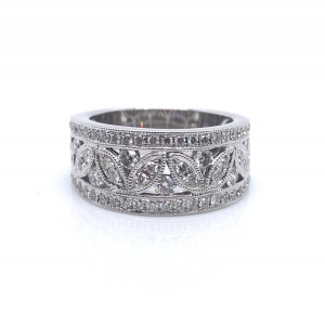 14K White Diamond Fashion Ring