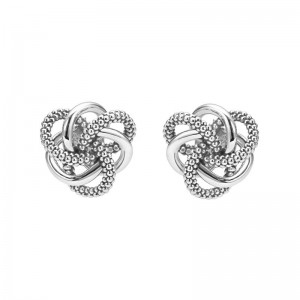S/S Love Knot 10Mm Stud Earring