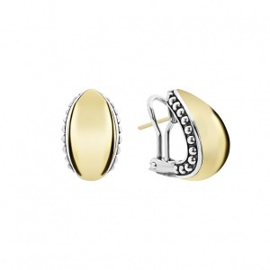 High Bar Gold Caviar Earrings