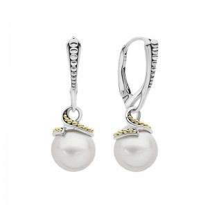 S/S 18K Luna Pearl Caviar Twist 10Mm Lvrbk Earrings