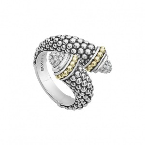 Signature Caviar Diamond Crossover Ring