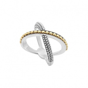 KSL Gold Beaded X Ring
