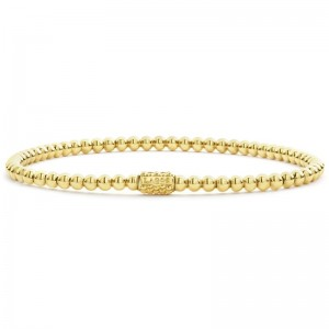 18K Cav Gold 3Mm Ball Stretch Bracelet